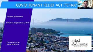 Covid Tenant Relief Act and Q&A with Steve Williams and Brad Barth