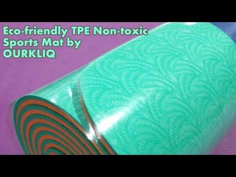 "Eco-friendly TPE Non-toxic Sports Yoga  Mat 24"" x 72""  6 mm thick 2016"