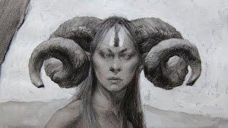 Nymph - Traditional Fantasy Drawing