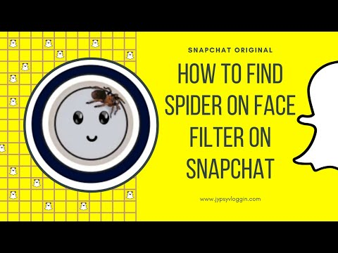 How To Find Spider On Face Filter On Snapchat Youtube