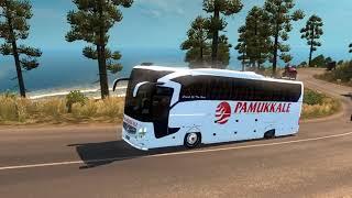 ETS2 Mersin-Antalya to Pamukkale JOURNEY WITH TURKISH TOURISM MAP !!!