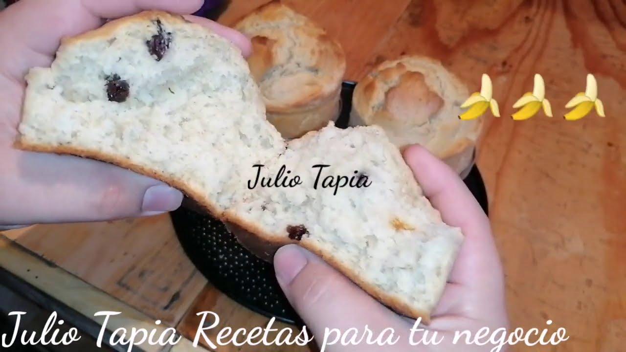 Compras pan? No lo hagas más mejor prepara estas mantecadas de plátano y canela y come las calientes