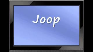 German Fashion - How to Pronounce Joop