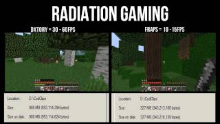 Fraps Vs Dxtory? Minecraft Test, Which is better?