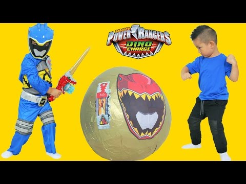Thumbnail: Power Rangers Dino Charge Super Giant Toys Surprise Egg Opening Ckn Toys