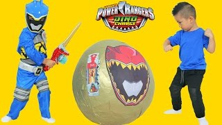 Power Rangers Dino Charge Super Giant Toys Surprise Egg Opening Ckn Toys thumbnail