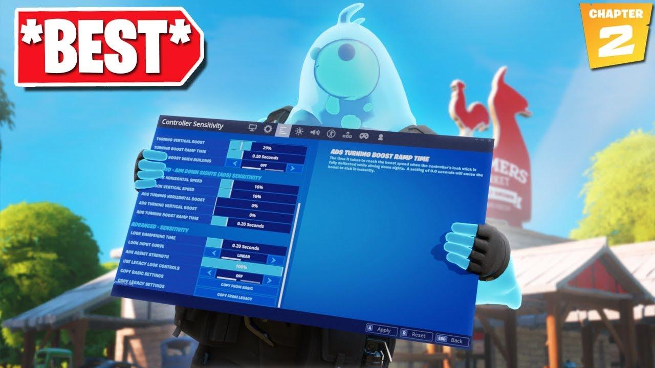 Best Controller Fortnite Settingssensitivity Chapter 2 Settings Xboxps4 New Best Settings