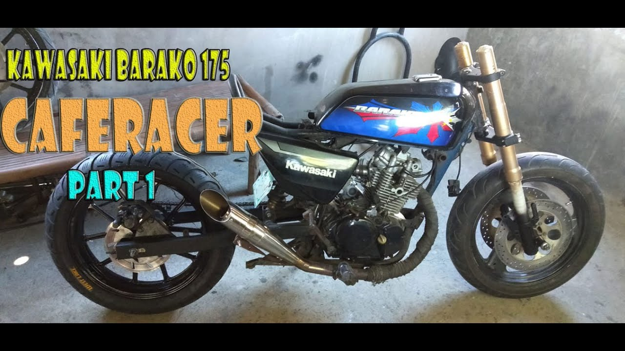 Kawasaki Barako 175 Caferacer Part 1