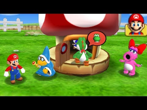 Mario Party 9 Garden Battle - Kamek vs Yoshi vs Birdo vs Mario| Cartoons Mee