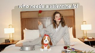 spending valentines day alone.