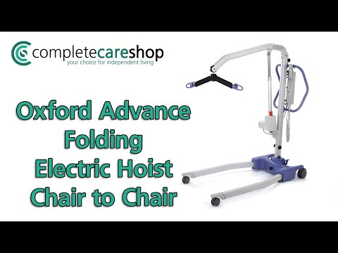 Oxford Advance Folding Electric Hoist - From chair to chair
