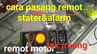 cara pasang remot motor stater