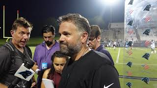 Matt Rhule Talks 1st Week of Training Camp, Practicing in Front of Fans and More