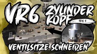 Ventilsitze schneiden - VR6 Turbo Zylinderkopfbearbeitung Teil 5   Philipp Kaess  