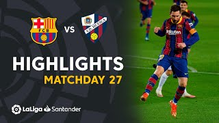 Highlights FC Barcelona vs SD Huesca (4-1)