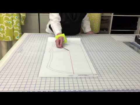 How To: Enlarge a existing dart in a garment. - YouTube