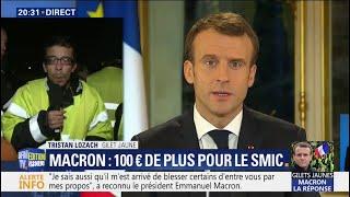 """Un gilet jaune à Emmanuel Macron: """"Si vous avez encore du respect pour votre peuple, démissionnez"""""""