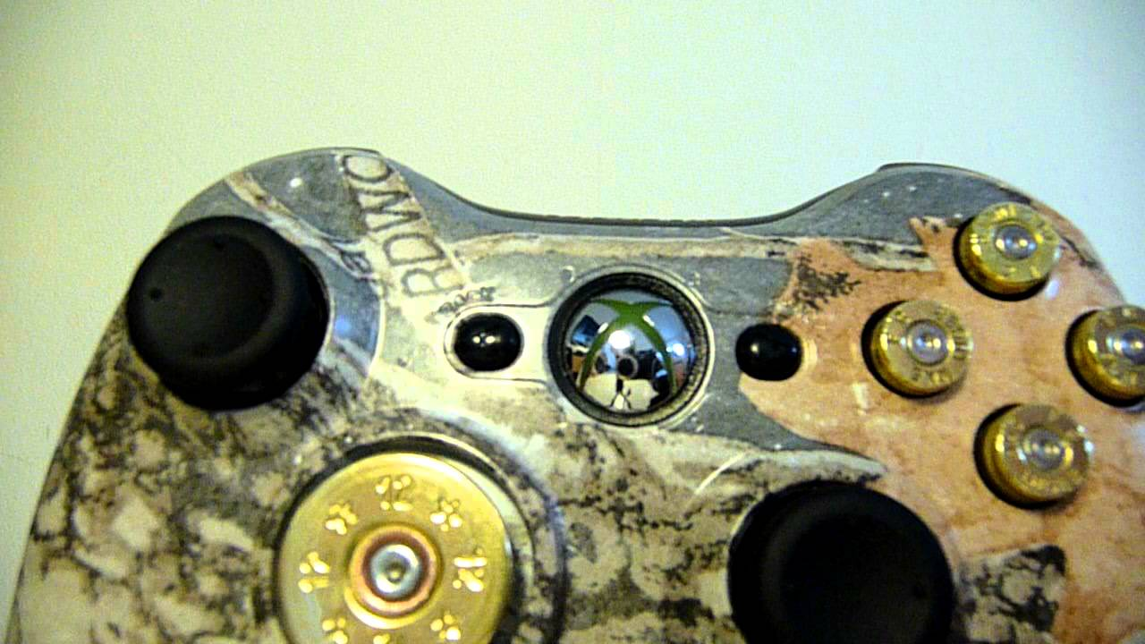 Custom Xbox 360 Controller RealTree Woodland Camo With ...