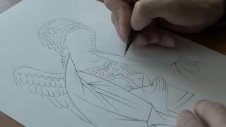 Изготовление прориси иконы из образца | Иконописная школа TEOFOS
