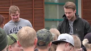 KalPa ja Jätekukko roskien keräyksessä Pirtin koululla!