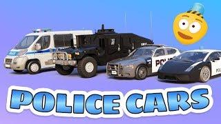 Police Car for Kids | Police Car Vehicles | Trucks for children | Cop Car for Children | Car Cartoon