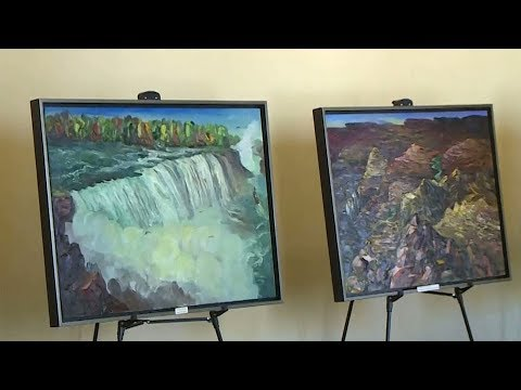 Chinese artist brings unique paintings to UN