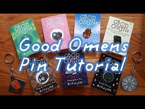 Good Omens DIY Pins and Charms Tutorial | Katy133 thumbnail