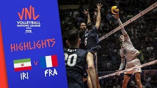 IRAN vs. FRANCE - Highlights Men | Week 4 | Volleyball Nations League 2019