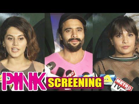 PINK Movie Screening | Preity Zinta | Taapsee Pannu | Jackky Bhagnani