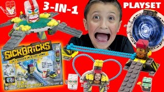Sick Bricks 3-IN-1 Power Up Playset! Sick Portal, Throne of Power & Warped Gate Unboxing w/ FGTEEV