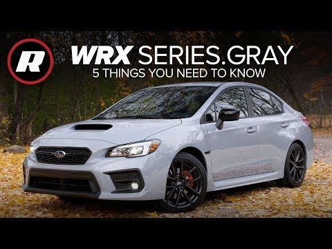 2019 Subaru WRX Series.Gray: 5 things to know