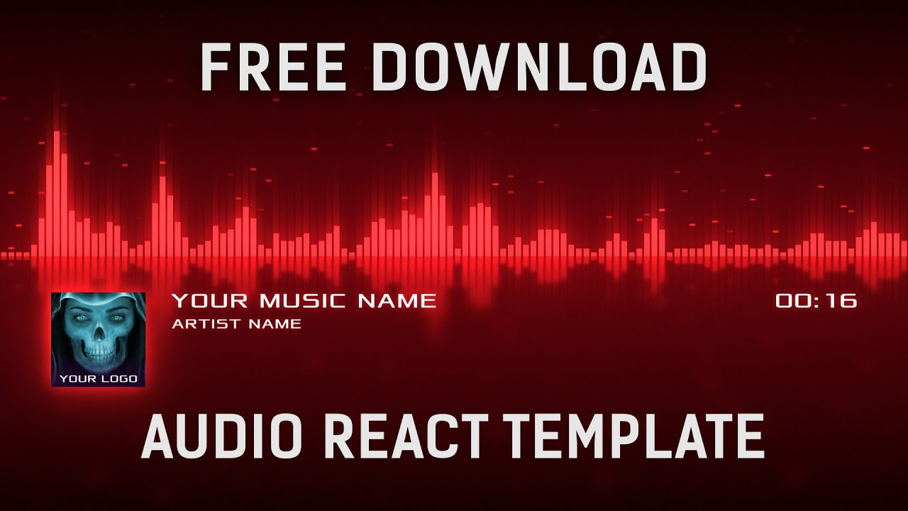 Audio React Visualizer After Effects Template Free Download