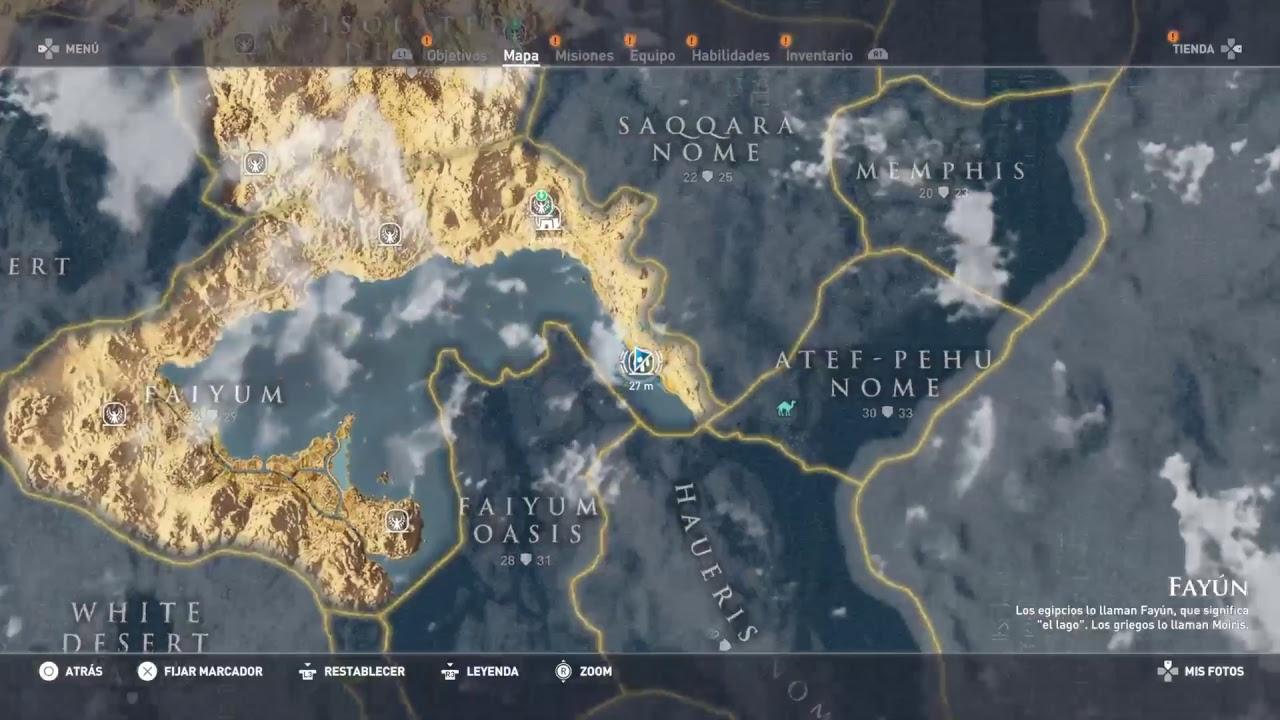 Assassins Creed Origins Circulo De Piedra Piscis Espanol Youtube