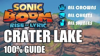 Sonic Boom: Rise of Lyric 100% Guide - Crater Lake ALL Collectibles