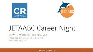 write better resumes