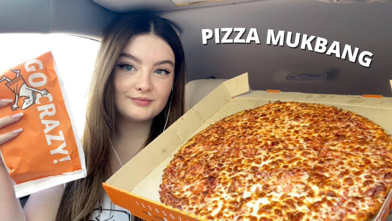 ASMR Pizza Mukbang 🍕close eating sounds