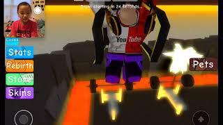 Sahara Herschtein on ROBLOX Weight Lifting Simulator 3😁 #roblox #weightliftingsimulator3 #gaming