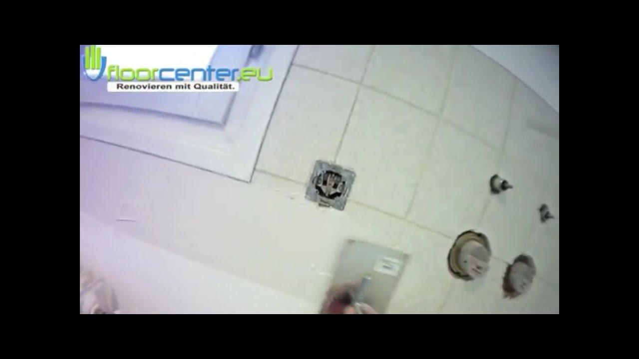 Fliesen überspachteln auf fliesen küche rückwand Teil 1 von 2 - YouTube