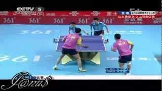 2012/13 China Super League: Wang Liqin / Shang Kun - Zhang Chao / Fang Bo [Full Match/Short form]