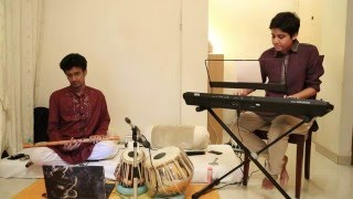 Anchal Talesara playing Raag Pilu on keyboard with Dipal Mehta on flute.