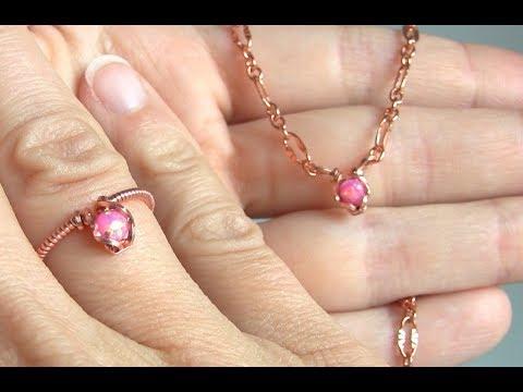 Mini Pendant and Ring Tutorial, cabochon, wire wrap