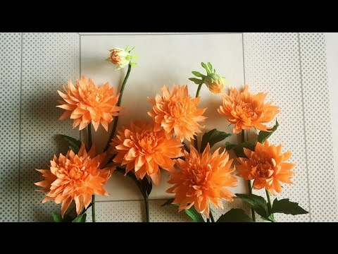 Abc Tv How To Make Dahlia Paper Flower From Crepe Paper Craft Tutorial