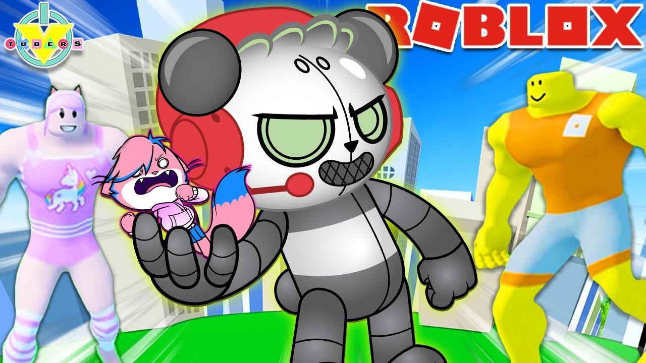 Getting BULKED UP in Roblox!! Alpha Lexa vs Robo Combo