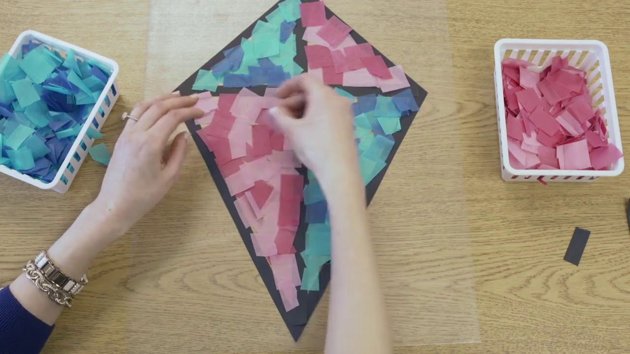 Stained glass tissue paper kite decorations in high speed for Decoration kite