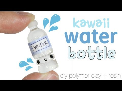 How to DIY Kawaii Water Bottle Polymer Clay/Resin Tutorial