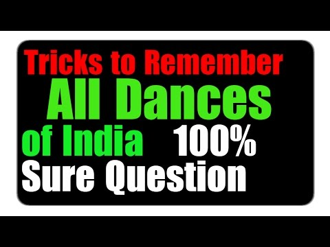 Most Important Trick on Indian State & Dance | part - 8