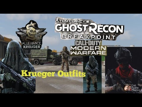 *Ghost Recon Breakpoint Modern Warfare Kreuger Outfits  