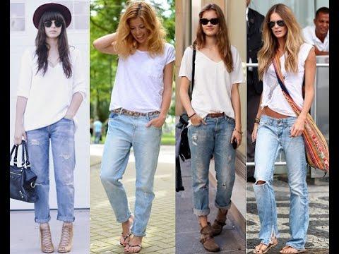 C чем носить джинсы -