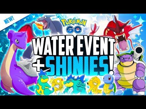 Pokemon Go - WATER EVENT + SHINY POKEMON!? (LAPRAS, GYARADOS, FERALIGATR AND MORE!)