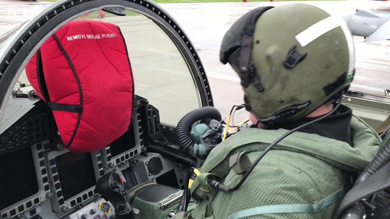 RAF Typhoon training cockpit